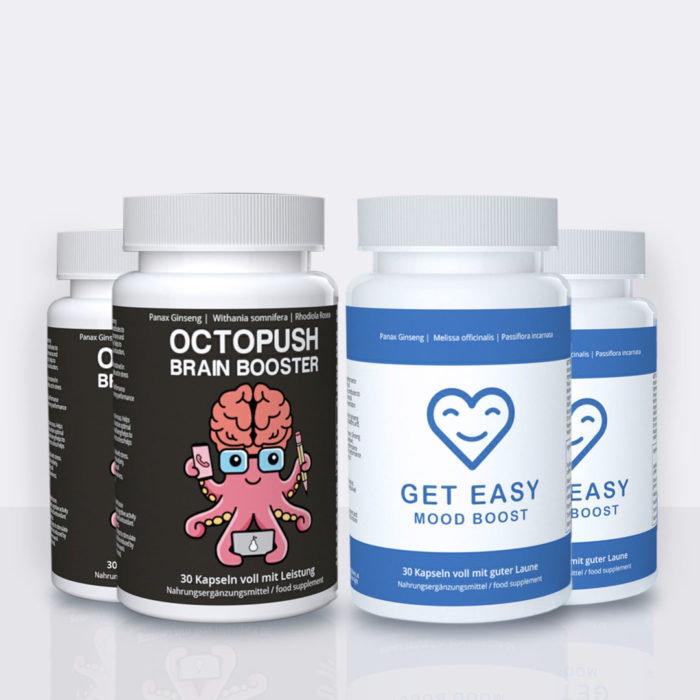 2x OCTOPUSH Brain Booster + 2x GET EASY Mood Booster