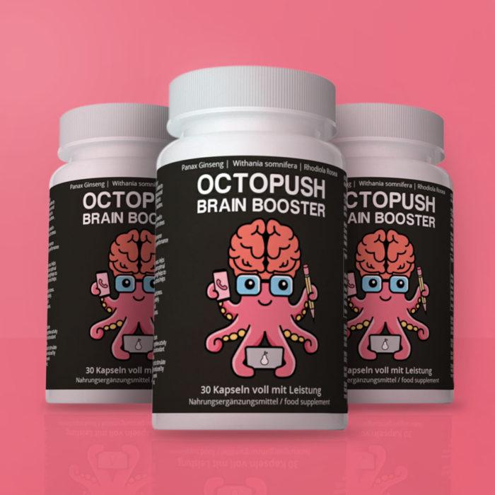 3x OCTOPUSH Brain Booster