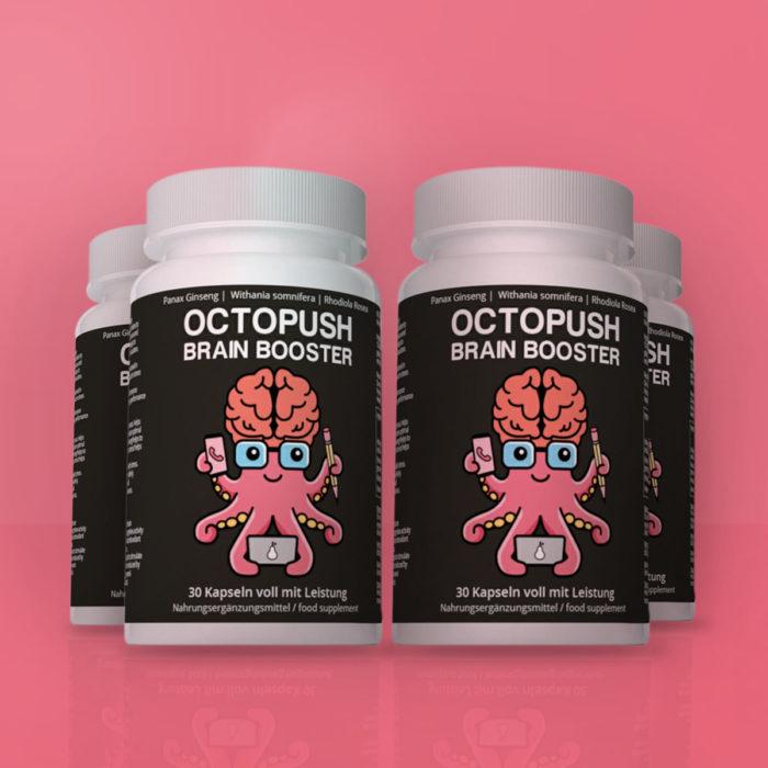 4x OCTOPUSH Brain Booster