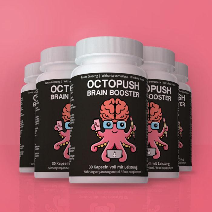 5x OCTOPUSH Brain Booster